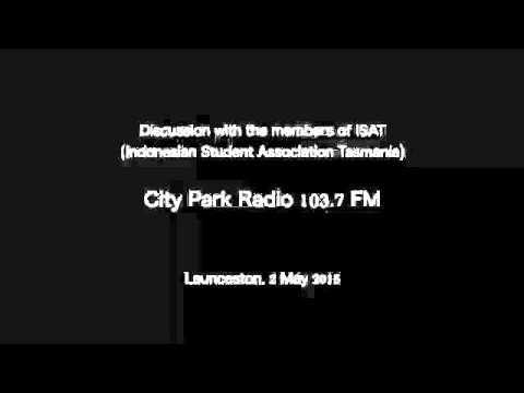 Indonesian Student Association Tasmania (ISAT) at City Park Radio 103.7 FM