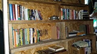 Building Rustic Barn Wood Book Shelves In My Tiny House