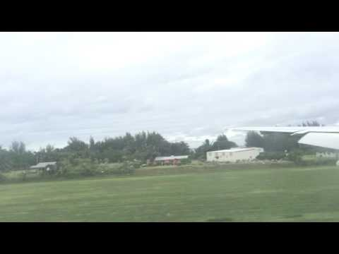 Air New Zealand Final Approach Rarotonga (Cook Islands) International Airport