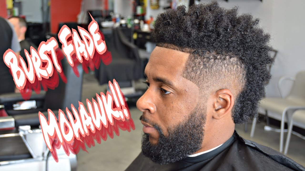 How To Cut Hair Burst Fade Curl Sponge Beard Trim