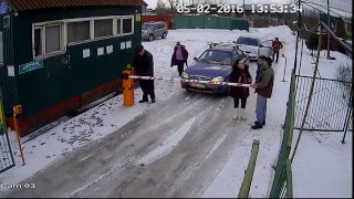 Старики-разбойники ломают шлагбаум.(, 2016-02-12T16:23:05.000Z)