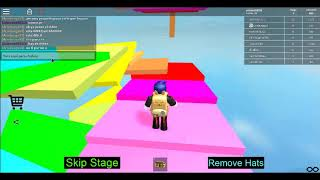 Roblox doing parkur with my friend