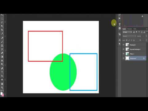 How to draw Outline of circle,square 2017 Updated || Photoshop