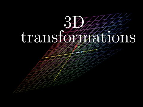Three-dimensional linear transformations | Essence of linear algebra, chapter 5