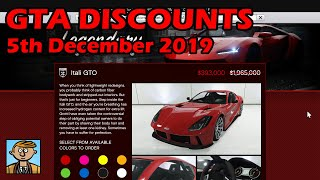 GTA Online Best Vehicle Discounts (5th December 2019) - GTA 5 Weekly Car Sales Guide #15