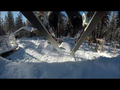 crazy backyard ski park - YouTube