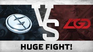 Huge fight! by EG vs LGD @ The International 5