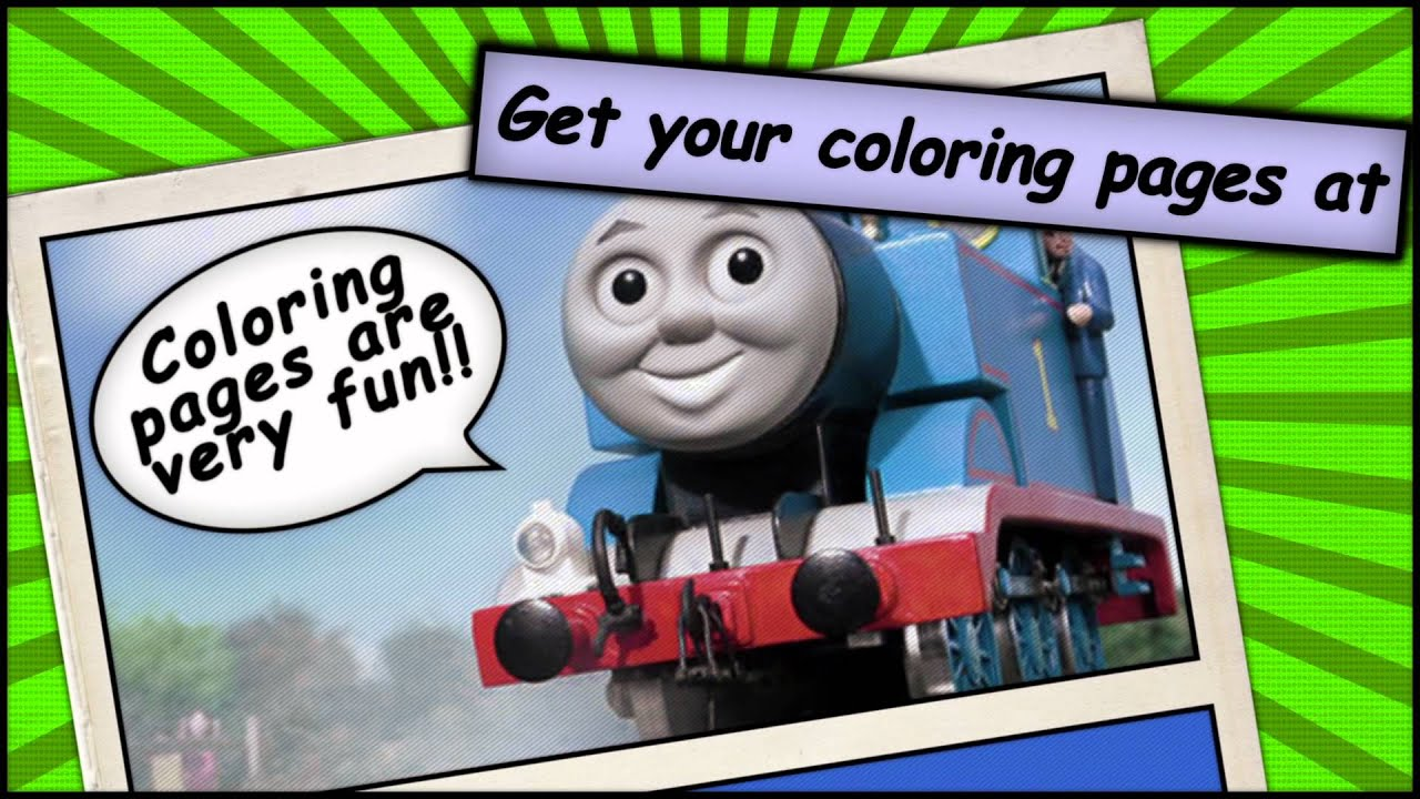 thomas the tank engine coloring pages for you youtube