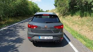 2019 SEAT Leon CUPRA R ST: engine & exhaust sound, driving by