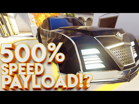 OVERWATCH 500% SPEED PAYLOAD CUSTOM GAMES!!