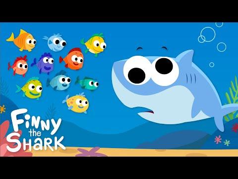 10 Little Fishies | Finny The Shark