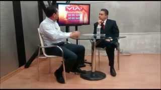 Detrás de cámaras de la entrevista a Leonardo Gutiérrez en VIA con Pepe Báez.
