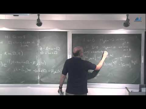 Scott Tremaine (Institute for Advanced Study, Princeton) Celestial Mechanics II
