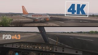 4K Flight Simulator - Prepar3D Realistic Airbus A319 Departure [i7-6700k @ 4.3GHz + GTX 1060 6GB]