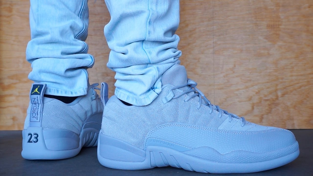 separation shoes 0a1b9 37976 JORDAN 12 LOW WOLF GREY EARLY UP CLOSE ON FOOT REVIEW !!