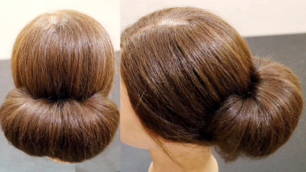 2 Minute Bubble Bun Hairstyle Easy Hairstyles For Women Low