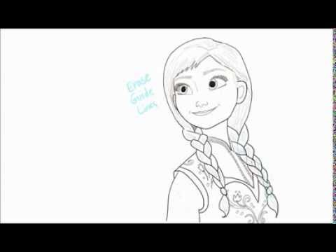 How To Draw Little Elsa And Anna Step By Step Free