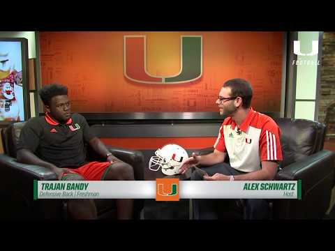 One on One with Trajan Bandy | Canes Football | 8.18.17