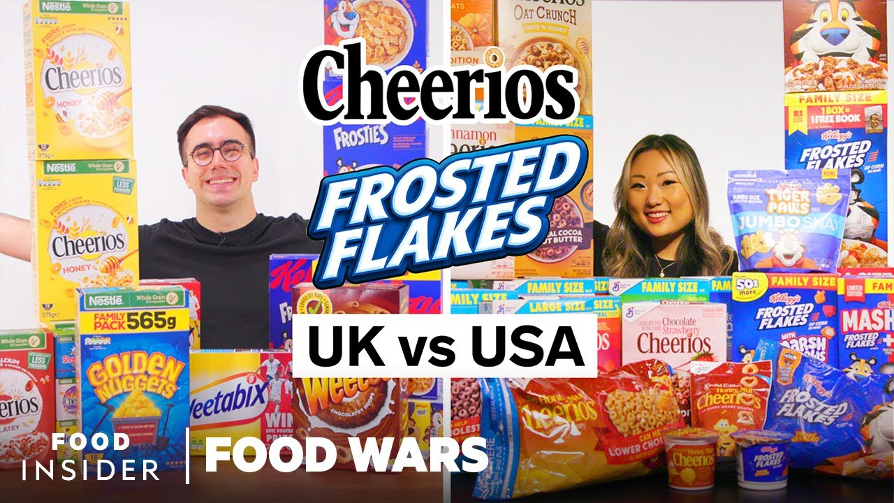 US vs UK Cereals: Frosted Flakes, Cheerios, and More   Food Wars