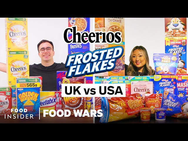 US vs UK Cereals: Frosted Flakes, Cheerios, and More | Food Wars