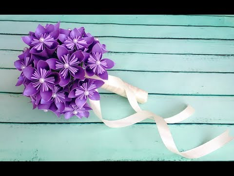 Abc Tv How To Make Origami Paper Flower Wedding Bouquet Craft
