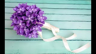 ABC TV | How To Make Origami Paper Flower Wedding Bouquet - Craft Tutorial