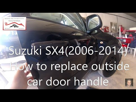 Suzuki SX4  (2006-2014)  How to replace outside car door handle