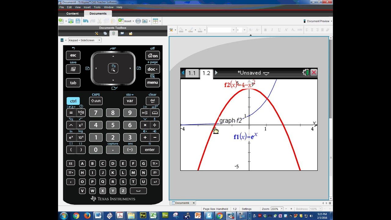 ti nspire cx cas graphing youtube. Black Bedroom Furniture Sets. Home Design Ideas