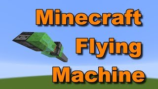 (1.14+) How To Make A Flying Machine In Minecraft! - Minecraft Tutorials