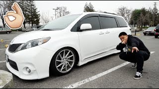 THE TOYOTA SIENNA SE GETS LOW... (STATIC LIFE!)