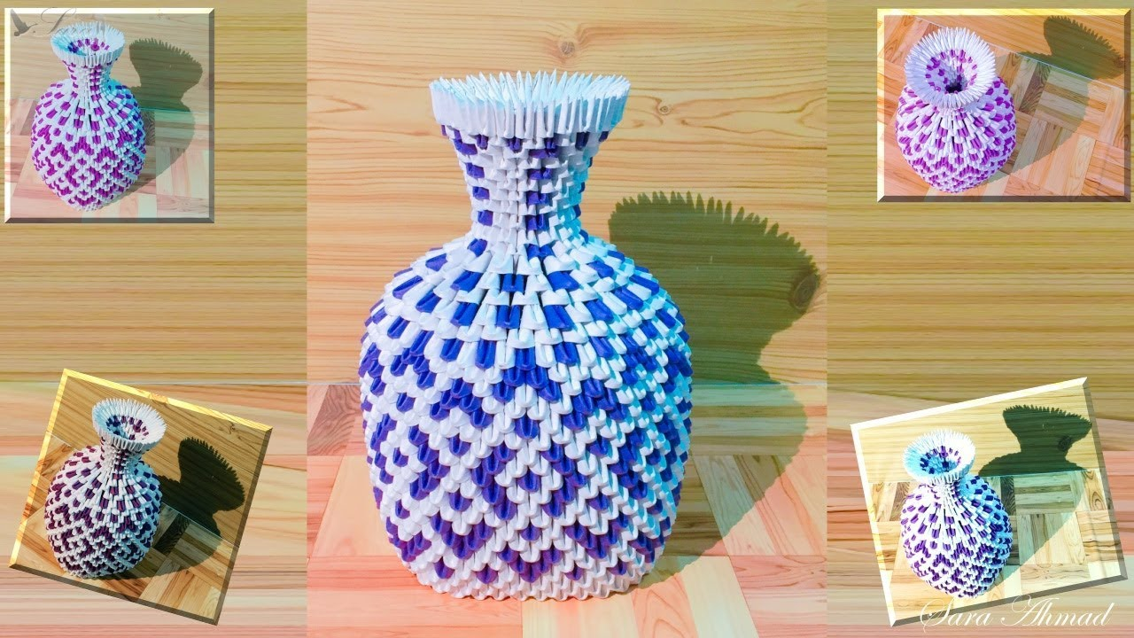 How to make 3d origami vase 40 youtube how to make 3d origami vase 40 reviewsmspy