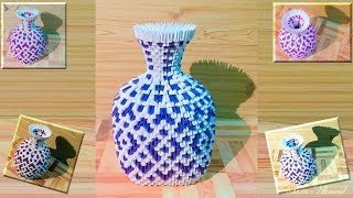 How to make 3d origami vase 40
