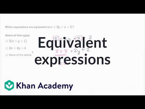 How To Find Equivalent Expressions By Combining Like Terms
