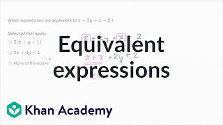 How To Find Equivalent Expressions By Combining Like Terms And Using The Distributive Property