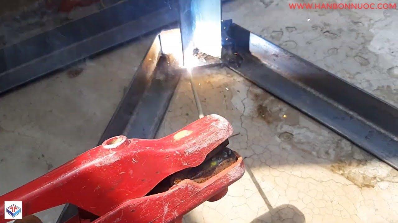 Cách hàn chân sắt bồn nước đứng