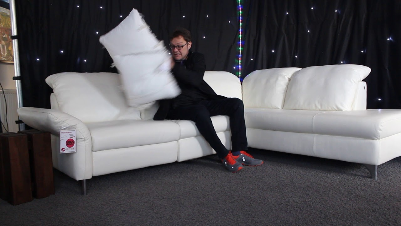 Video W Schillig 33220 Ecke Leder Weiss Sofa Youtube