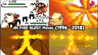 Evolution of Pokémon Moves - Fire Blast (1996 - 2018)