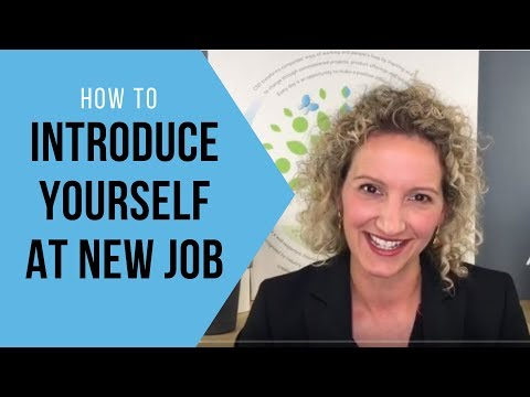 How To Introduce Yourself At A New Job