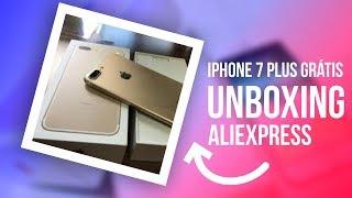 Deeeeu Ruiiiiim? iPhone 7 PLUS  GRÁTIS - UNBOXING ALIEXPRESS 2018 - BÔNUS IPHONE X PTBT