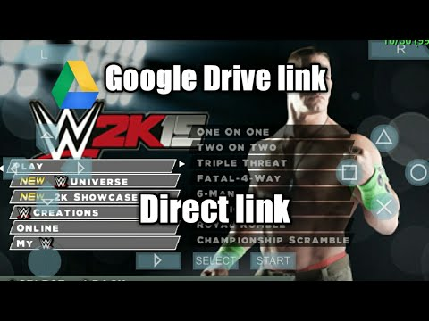 How To Download Wwe 2k15 Psp Android Drive Link Youtube