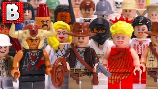 Every LEGO Indiana Jones Minifigure Ever Made!!!   Full Collection Review