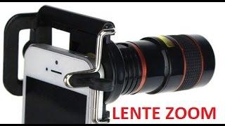 Lente zoom óptico universal para celular