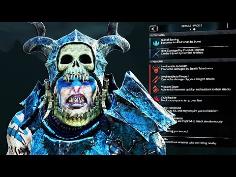 SHADOW OF MORDOR - Unique Lord of the Hunt Reinforce & Ambush in Trials of War |