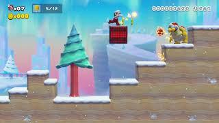 Mario Maker 2 Story Mode #18 ファイアボールと 木のぼりと 攻略動画.