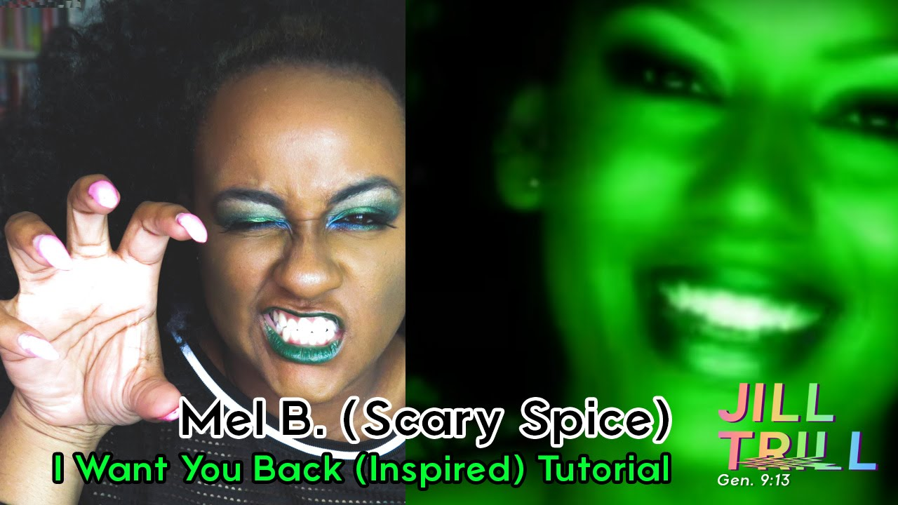 ~*90s MAKEUP TUTORIAL*~ | MEL B. (SCARY SPICE) - I WANT ...Scary Spice Makeup