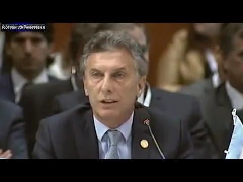 MERCOSUR Mauricio Macri pidió la liberación de los presos políticos en Venezuela