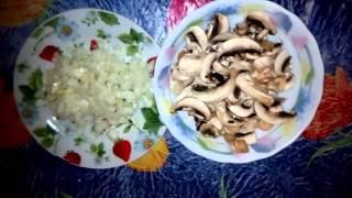 Ооочень вкусная курица жареная с грибами. Легко, быстро и вкусно.
