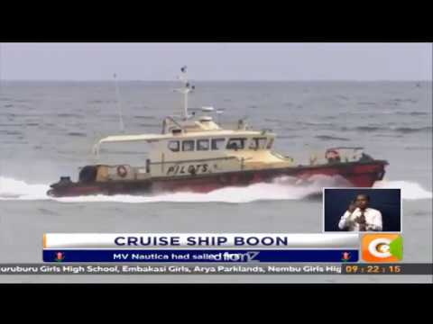 Cruise ship with 500 tourists docks in Mombasa
