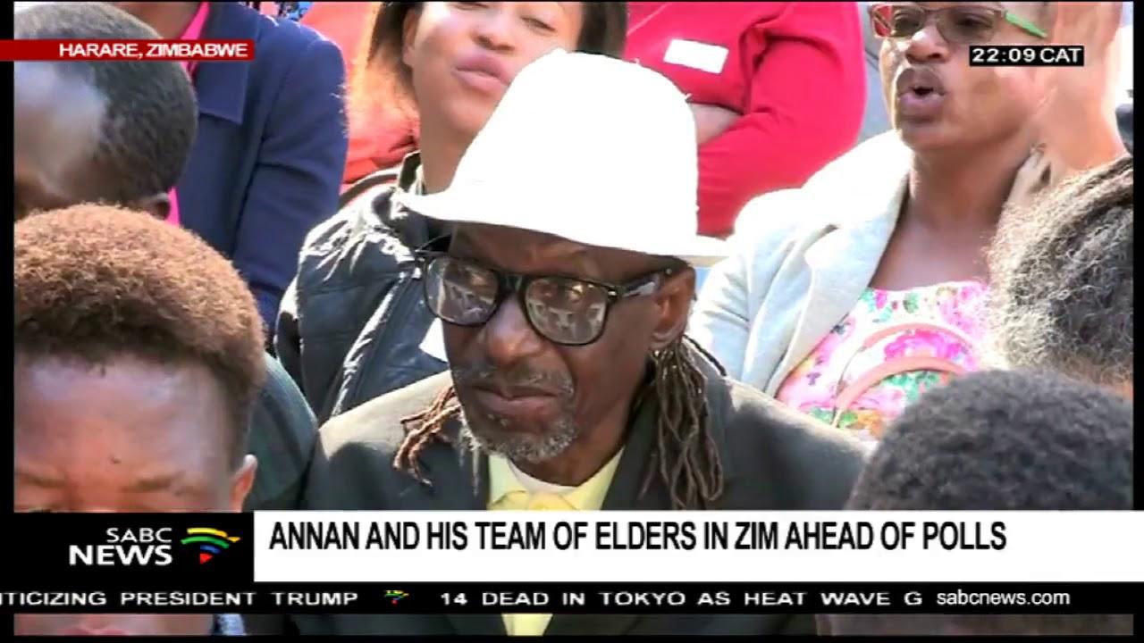 Kofi Annan leads team of Elders in Zimbabwe ahead of elections