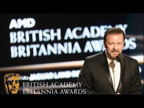 """The Best Award in the History of the Universe"" - Ricky Gervais' Britannias acceptance speech"
